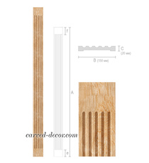 Unfinished decorative pilaster from...