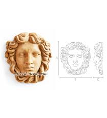 Greek Woman unpainted ornamental ma...