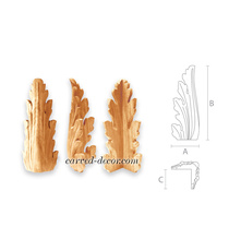 Decorative acanthus leaf onlay for ...