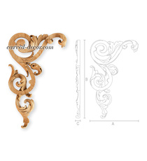 Carved corner onlay with acanthus d...