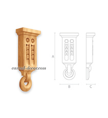 Unpainted handcrafted wall bracket ...