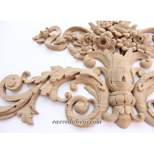 Millwork carved wood appliques
