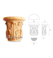 Decorative vintage capital, Hadcrafted acanthus capital