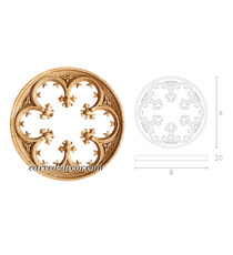 Large Gothis style multifoil round ...