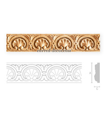 Rococo solid wood moulding with sea...