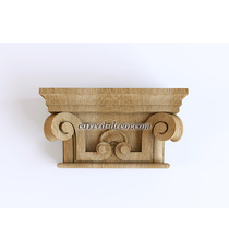 Carved Renaissance-style capital wi...