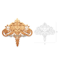 Antique ornamental drop onlay with ...