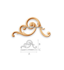 Large scrolled appliques for stairs...