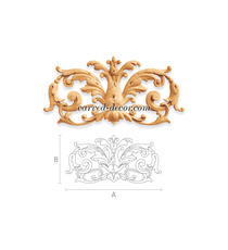 Rounded solid wood Baroque style ap...