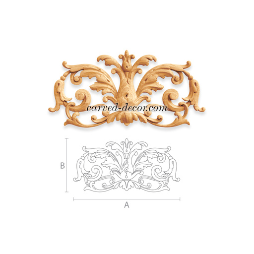 Craftsman wall appliques for mantel