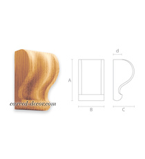 Architectural solid wood bracket for coffered ceilings