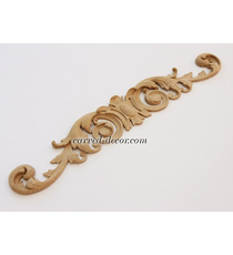 Solid wood openwork scroll center a...