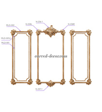 Ornate carved wood onlays for firep...