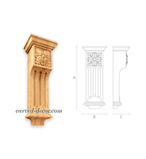 Neoclassical fluted corbels, Floral...