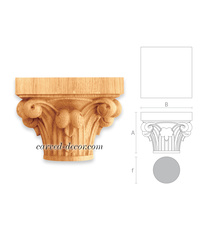Gothic-style decorative capitals wi...