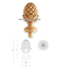 Ornate Pinecone finial for balustra...