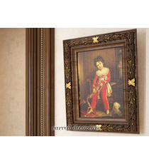 Victorian wall-mounted carved mirro...