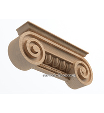 Unfinished wooden capital for furniture decoration