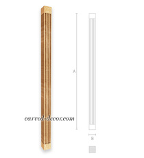 Staircase handrail part, Wooden baluster spindle