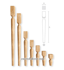 Round wooden vase-shaped legs for furniture