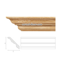 Relief wooden cornice, Large crown molding