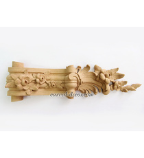 Carved interior corbel decoration with flowers, Left