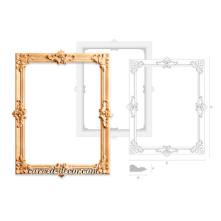 Unfinished wood carving mirror frame