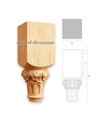 Fluted furniture legs with acanthus...