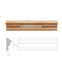 Unpainted wooden moulding, Classical carved molding
