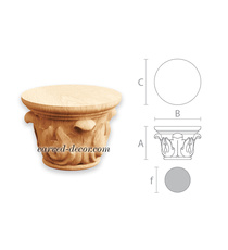 Acanthus wooden capital, Round cabinet capital