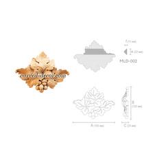 Unique oak appliques for mantel...
