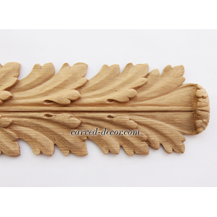 Artistic carved wood onlays for mantel