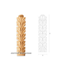 Long acanthus leaf appliques for in...