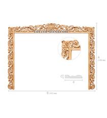 Baroque style wooden frame for TV z...