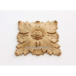 Architectural wood medallion wall art