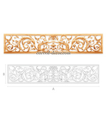 Floral Baroque style decorative wal...