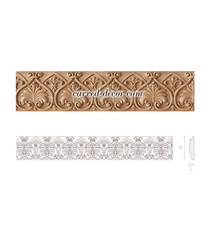 Wooden scroll moulding, Beech wooden mouldings with patterns