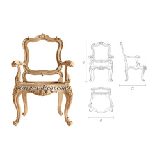 Baroque hardwood chair frame with c...
