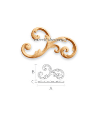 Large Baroque-style scroll applique...