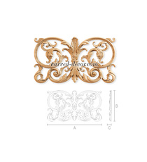 Baroque-style carved wooden center ...
