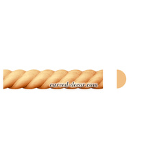 Decorative braided wood moulding for interior