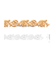 Baroque frieze moulding with flower...