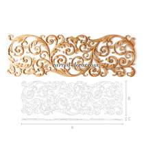 Antique-style floral wall art decor, Right
