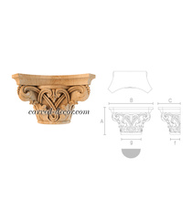 Ornate handcrafted capital, Antique carved capital
