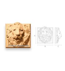 Lion square decorative mascaron fro...