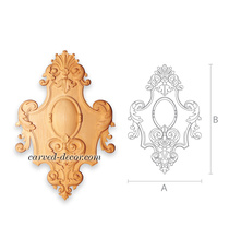 Carved Baroque style cartouche onla...