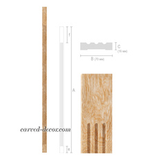 Unfinished solid wood pilaster with...
