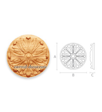 Architectural round floral rosette ...