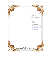 Victorian angular overlays with elements of leaves and buds