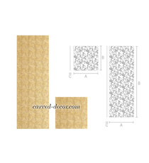 Ornate textured panel with floral s...